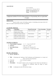 Sample Resume Format Pdf India by Computer Science Engineering Resume Format Download Resume Format