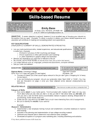 Resume Example Or Templates by Skill Based Resume Template