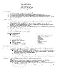 Nurse Objectives Resume Samples by Sample Er Nurse Resume Resume Cv Cover Letter Er Nurse Cover