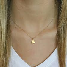 gold paw print necklace tiny gold paw print necklace paw