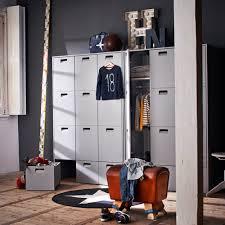 pine wardrobe in grey childrens bedroom furniture cuckooland
