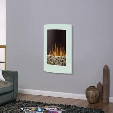 dimplex 22 inch convex wall mount electric fireplace white