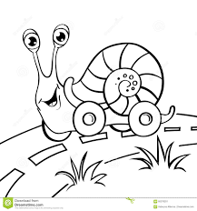 cartoon snail on wheels stock vector image 85378201
