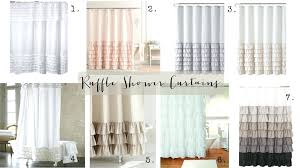 White Ruffle Curtains Curtains With Ruffles Snowy White Ruffles Shower Curtain White