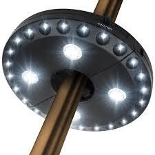 Solar Lights For Umbrella by Best Solar Patio Umbrellas And Umbrella Lights Ledwatcher