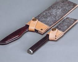 handcrafted kitchen knives leather knife roll etsy