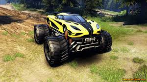 koenigsegg gta 5 koenigsegg one1 monster truck v1 0 for spin tires 2014 download