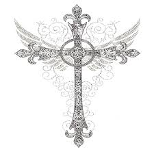 s5281 cross with wings and decor crosses wing designer looks
