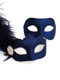 couples masquerade masks s navy blue venetian masquerade masks
