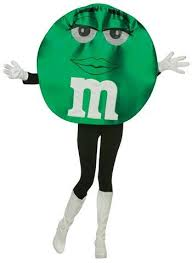 m m costume green m m costume free shipping