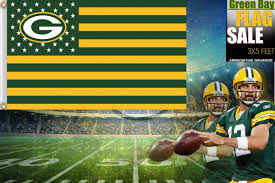 Custom Team Flags Green Bay Packers Flag Usa With Stars And Stripes Nfl Flag 3x5 Ft