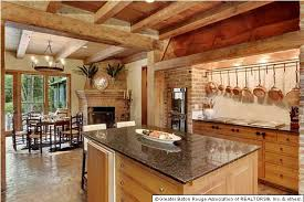 rustic kitchen with exposed beam u0026 european cabinets in baton