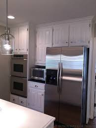 Kitchen Cabinet Refrigerator Before U0026 After Kitchen Reno With Painted Cabinets Home Bunch