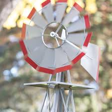 smv industries 4 5 ft windmill silver and red hayneedle