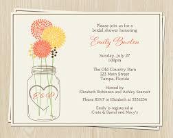 Mason Jar Bridal Shower Invitations Mason Jar Bridal Shower Invitations Wedding Coral Yellow