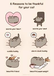 Pusheen The Cat Meme - 6 reasons to be thankful for your cat pusheen know your meme