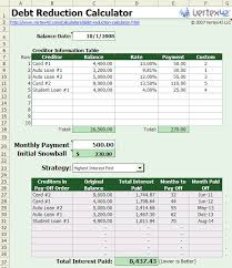 Excel Payment Calculator Template Debt Reduction Calculator Apache Openoffice Extensions