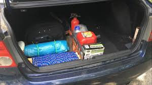 survival truck diy organize your car survival gear with stay hold trunk organization