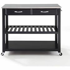 stainless steel top kitchen cart crosley furniture stainless steel top kitchen cart with optional