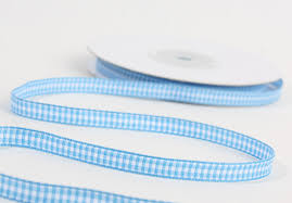 blue gingham ribbon 1 4 blue and white gingham ribbon 25 yards it s a boy theme