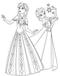 frozen coloring pages elsa coronation anna coloring pages getcoloringpages com