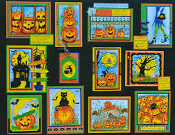 halloween wood blocks northwoods rubber stamps home
