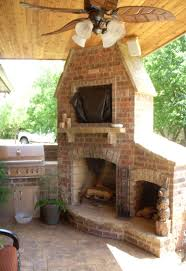 stone and brick combo outdoor fireplaces fireplaces lincoln