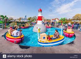 grandpa pig u0027s boat trip ride peppa pig world paultons park stock