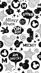 background black black white disney mickey mouse image