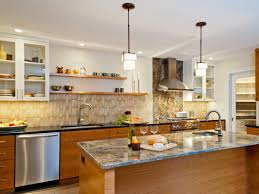 quartz countertops kitchen shelves instead of cabinets lighting
