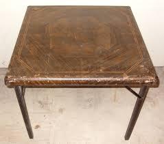 Table With Folding Legs Vintage Samson Card Table With Folding Legs By Shwayder Brothers