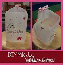 Valentine Shoe Box Decorating Ideas Diy Milk Jug Valentine Card Holder