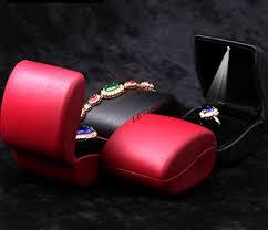engagement ring boxes that light up elegant curved design led lighted ring bracelet necklace