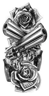 revolver guns and dolars tattoo design u2026 tattoo pinterest