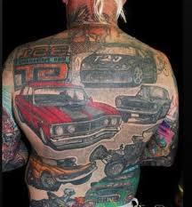 full body car tattoos design ideas on back for man tattoo design
