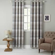buy john lewis darcey check lined eyelet curtains john lewis