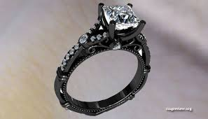 cute unique rings images Unique black diamond rings wedding promise diamond engagement jpg