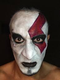 Kratos Halloween Costume Facepaint Kratos God War U2013 Angel Leon
