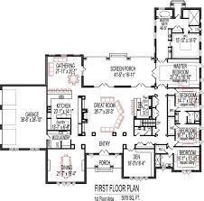 5 bedroom floor plans 1 story 5 bedroom house plans open floor plan design 6000 sq ft house 1