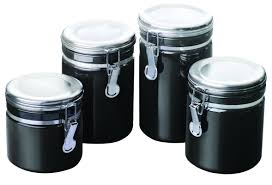 kitchen canisters online anchor hocking 4 piece kitchen canister set u0026 reviews wayfair