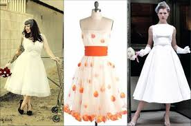 retro wedding dress retro wedding dresses tea length inofashionstyle com