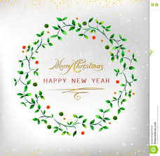 merry christmas happy new year 2016 watercolor wreath ideal for
