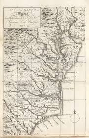 america map virginia from williamsburg to wills s creek the fry jefferson map