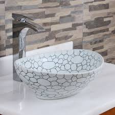 elite 1558 oval cobblestone pattern porcelain ceramic bathroom