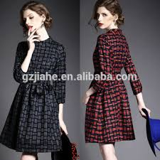 new lady office formal autumn dresses latest long sleeve