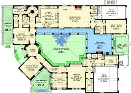 house plans with a courtyard home floor plans courtyard home plan 82002ka
