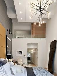 chambre contemporaine grande hauteur sous plafond