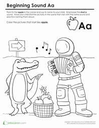 beginning sounds coloring sounds like apple worksheet