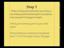 learn how to write an executive summary tutorial youtube