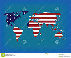 World Map Usa by World Map In Colors Stock Photo Image 10844130
